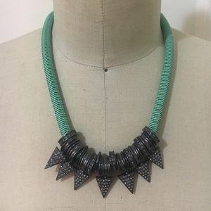 Jewelmint Seafoam Green and Gunmetal Necklace